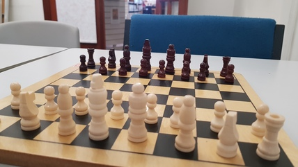 Chess Board in Library Room
