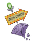 Moon Library Sign Space Chase 2019
