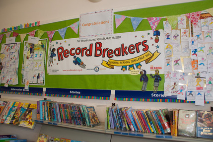 Summer Reading Scheme Record-Breakers Wall
